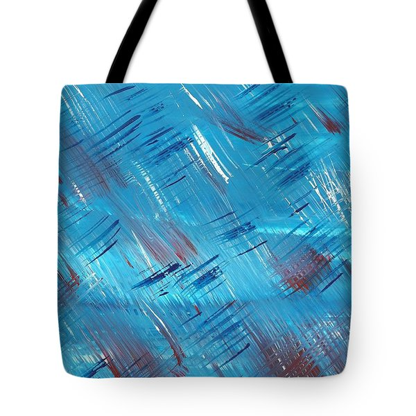 Rwb Blue With Red And White Tote Bag