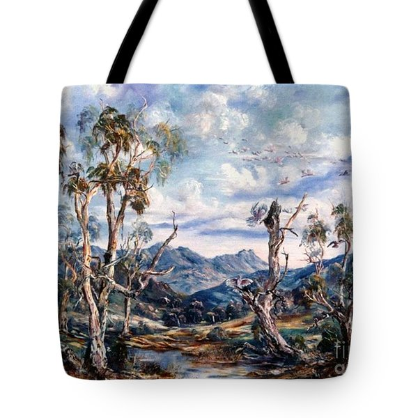 Rwetyepme, Mount Sonda Central Australia Tote Bag