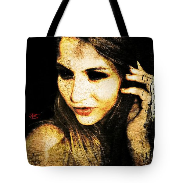 Tote Bag featuring the digital art Ryan 1 by Mark Baranowski