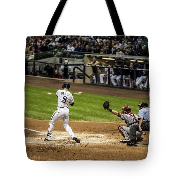 Ryan Braun  Tote Bag by CJ Schmit