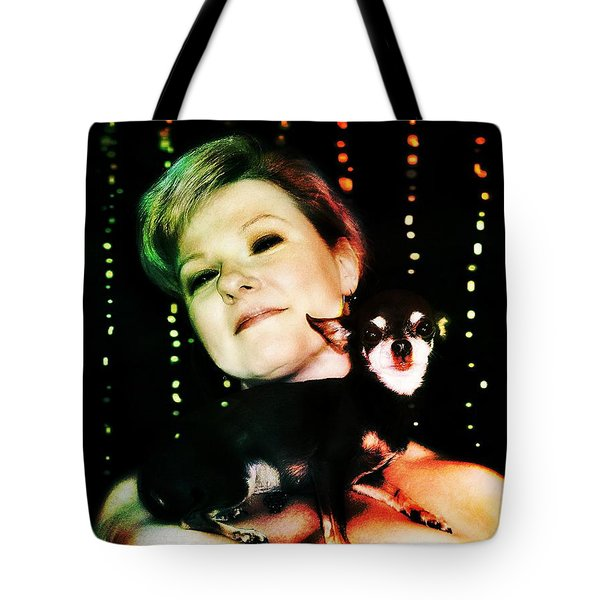 Ryli And Chi-chi 2 Tote Bag by Mark Baranowski