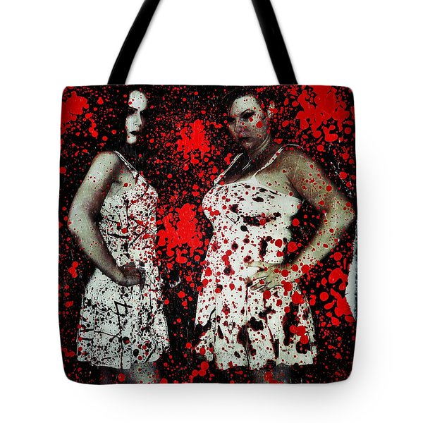Tote Bag featuring the digital art Ryli And Corinne 2 by Mark Baranowski