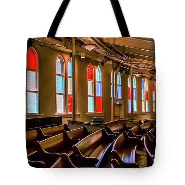 Ryman Window Pews Tote Bag