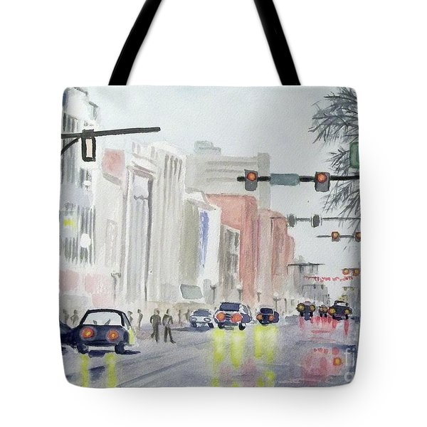 S. Main Street In Ann Arbor Michigan Tote Bag by Yoshiko Mishina