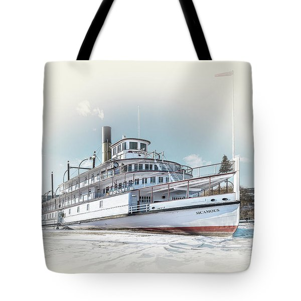Tote Bag featuring the photograph S. S. Sicamous II by John Poon