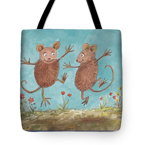 S1  Dancing Mice Tote Bag by Charles Cater