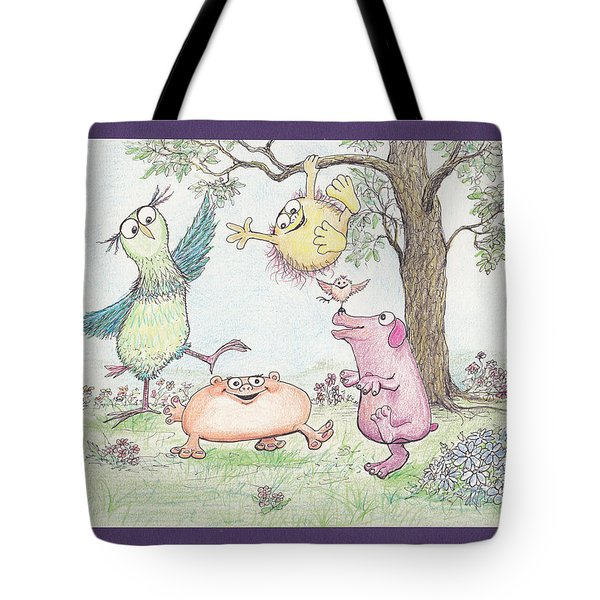 S3 Birthday Friends Tote Bag by Charles Cater
