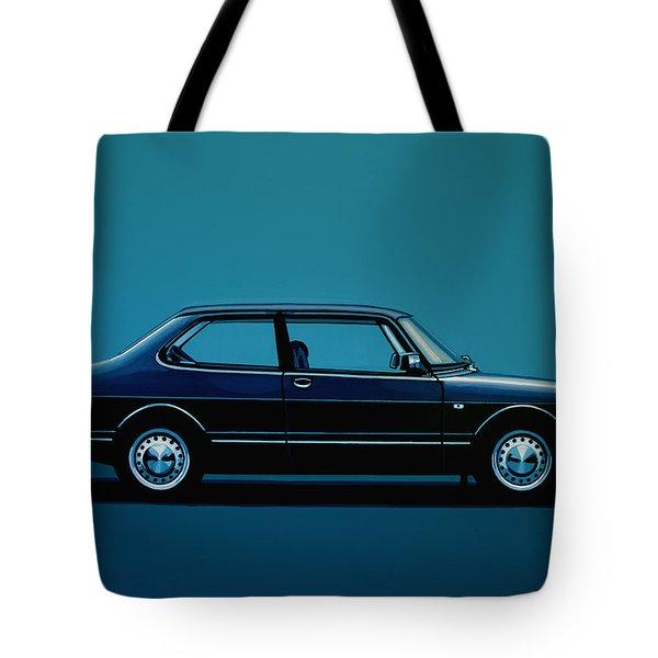 Saab 90 1985 Painting Tote Bag