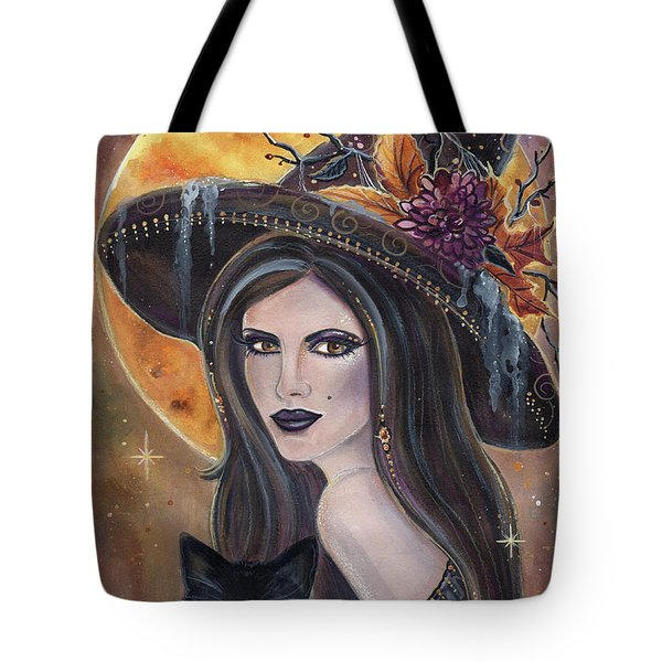 Sable And Salem Halloween Witch Tote Bag