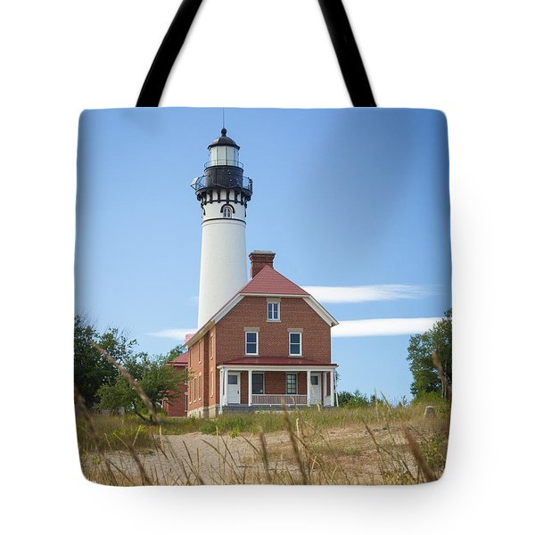 Sable Point Lighthouse Tote Bag