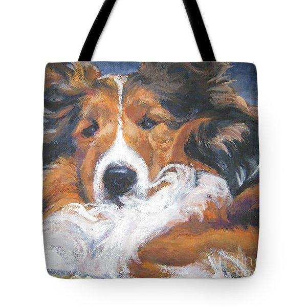 Sable Shetland Sheepdog Tote Bag by Lee Ann Shepard