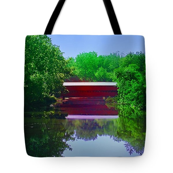 Sachs Covered Bridge - Gettysburg Pa Tote Bag by Bill Cannon