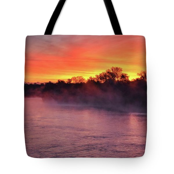 Sacramento River Sunrise Tote Bag