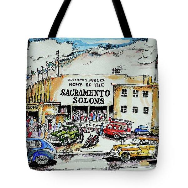Sacramento Solons Tote Bag by Terry Banderas