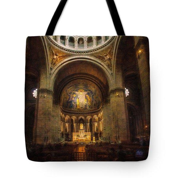 Tote Bag featuring the photograph Sacre - Coeur Basilica by John Rivera