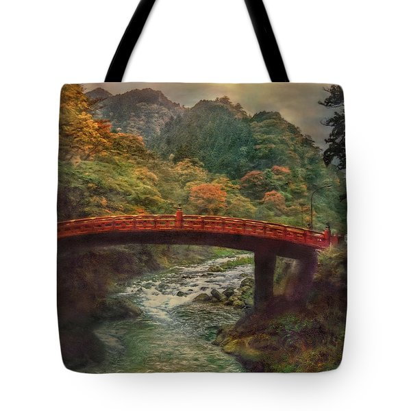 Tote Bag featuring the photograph Sacred Bridge by Hanny Heim