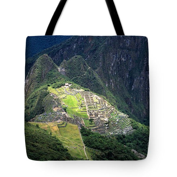Sacred City Of Machu Picchu Tote Bag by James Brunker