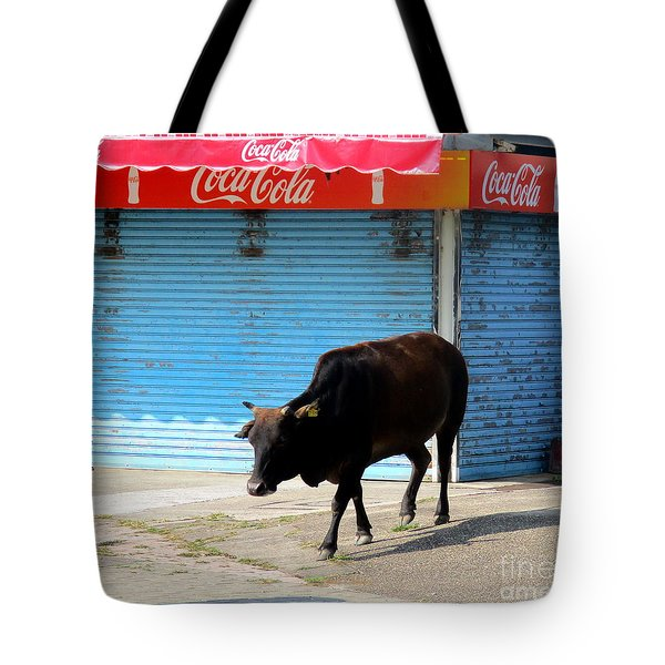 Tote Bag featuring the photograph Sacred Cow 1 by Randall Weidner