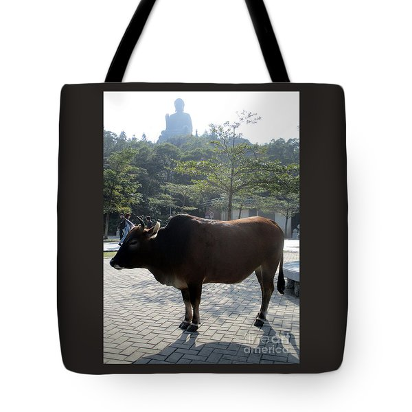 Tote Bag featuring the photograph Sacred Cow 3 by Randall Weidner