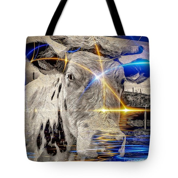 Tote Bag featuring the digital art Sacred Cow by Eleni Mac Synodinos