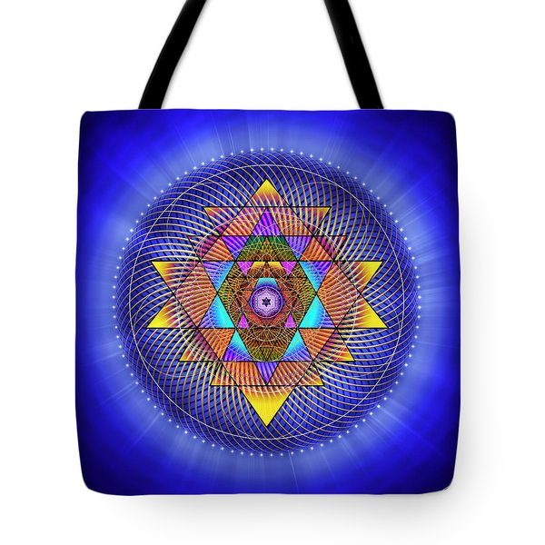 Tote Bag featuring the digital art Sacred Geometry 705 by Endre Balogh