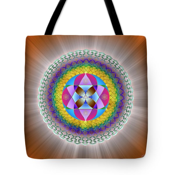 Tote Bag featuring the digital art Sacred Geometry 706 by Endre Balogh