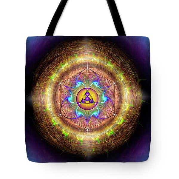 Tote Bag featuring the digital art Sacred Geometry 707 by Endre Balogh