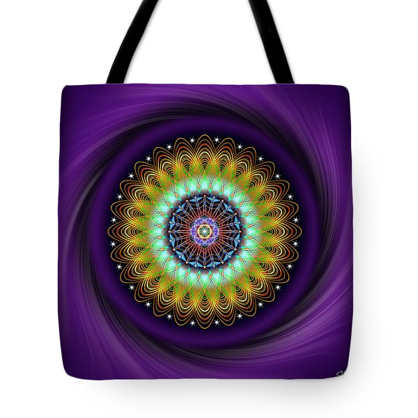 Tote Bag featuring the digital art Sacred Geometry 710 by Endre Balogh