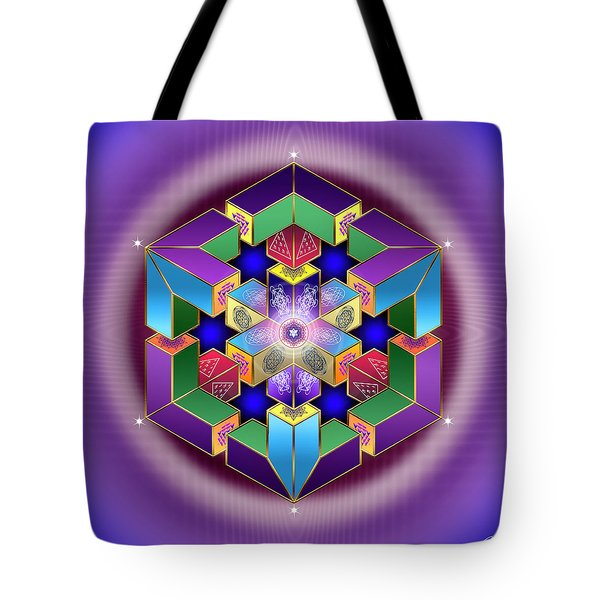 Tote Bag featuring the digital art Sacred Geometry 711 by Endre Balogh