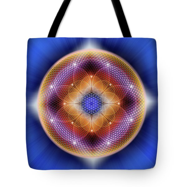 Tote Bag featuring the digital art Sacred Geometry 712 by Endre Balogh