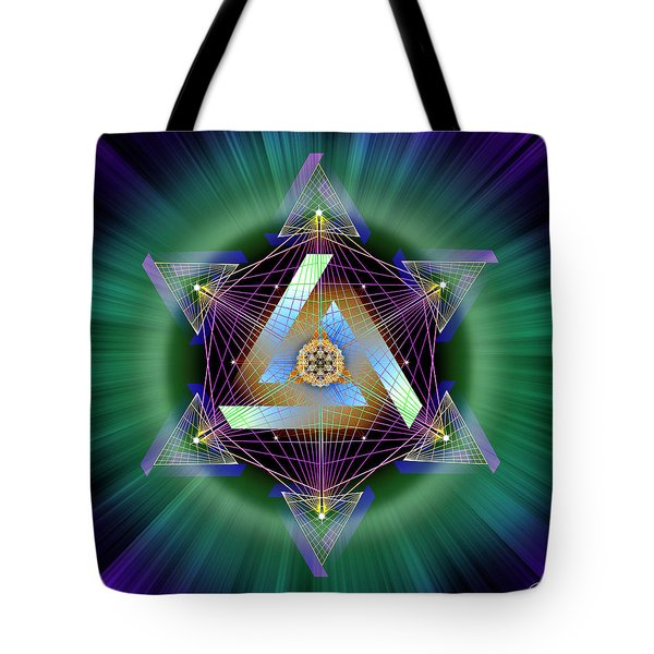 Tote Bag featuring the digital art Sacred Geometry 713 by Endre Balogh