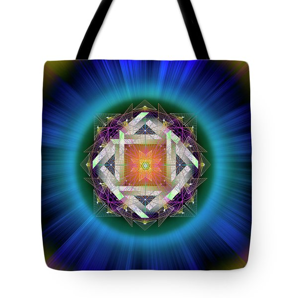 Tote Bag featuring the digital art Sacred Geometry 714 by Endre Balogh
