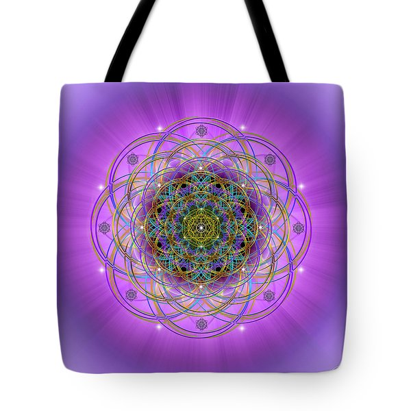 Tote Bag featuring the digital art Sacred Geometry 715 by Endre Balogh