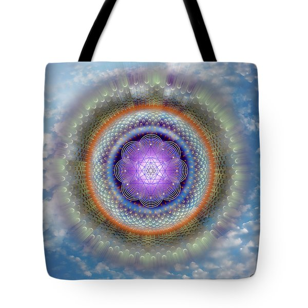 Tote Bag featuring the digital art Sacred Geometry 716 by Endre Balogh
