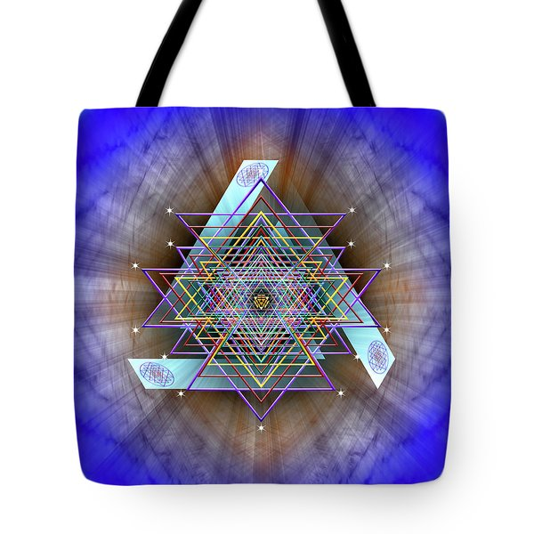 Tote Bag featuring the digital art Sacred Geometry 717 by Endre Balogh