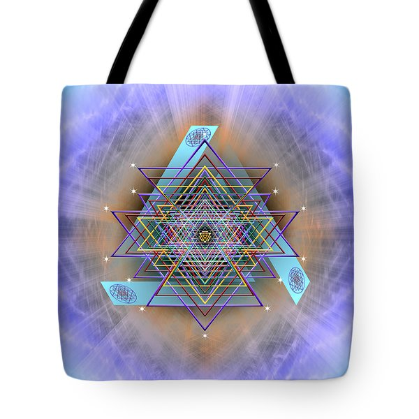Tote Bag featuring the digital art Sacred Geometry 717 Version 2 by Endre Balogh