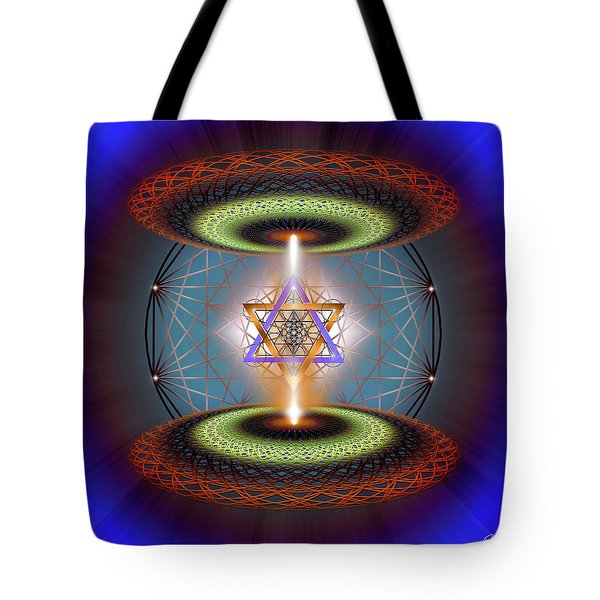 Tote Bag featuring the digital art Sacred Geometry 718 by Endre Balogh