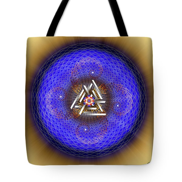 Tote Bag featuring the digital art Sacred Geometry 719 by Endre Balogh