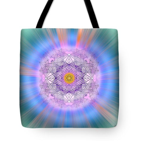 Tote Bag featuring the digital art Sacred Geometry 720 by Endre Balogh