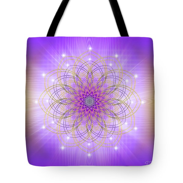 Tote Bag featuring the digital art Sacred Geometry 721 by Endre Balogh