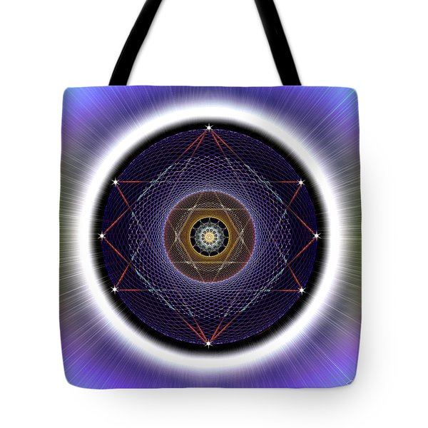 Tote Bag featuring the digital art Sacred Geometry 722 by Endre Balogh