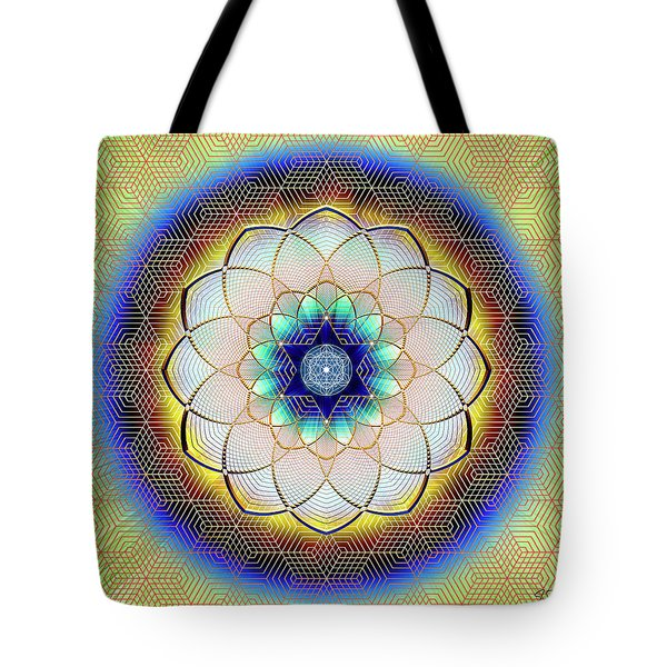 Tote Bag featuring the digital art Sacred Geometry 723 by Endre Balogh