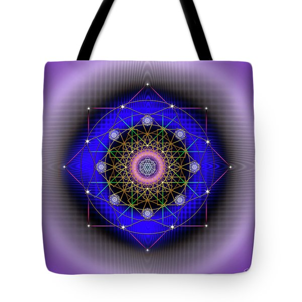 Tote Bag featuring the digital art Sacred Geometry 725 by Endre Balogh