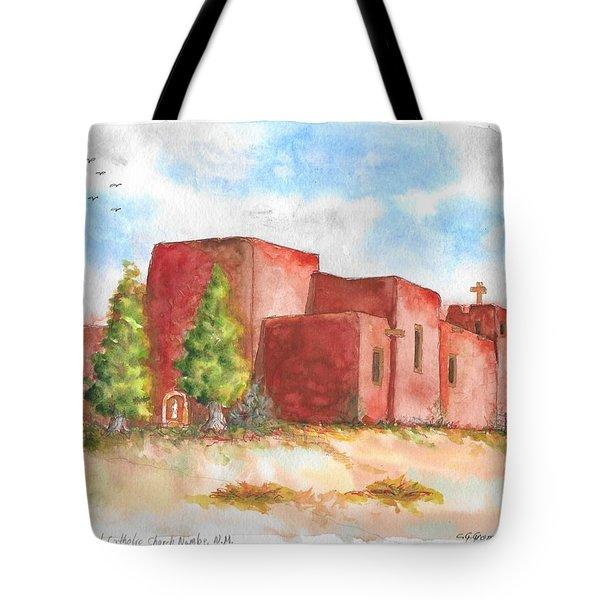 Sacred Heart Catholic Church, Nambe, New Mexico Tote Bag