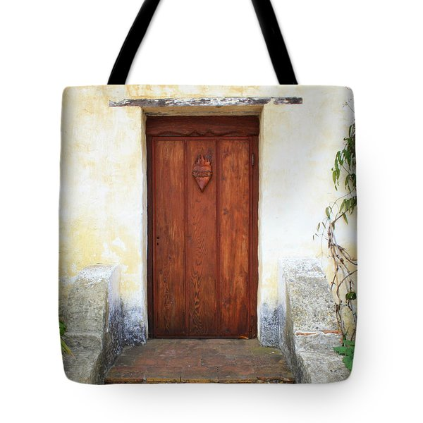 Sacred Heart Door Tote Bag