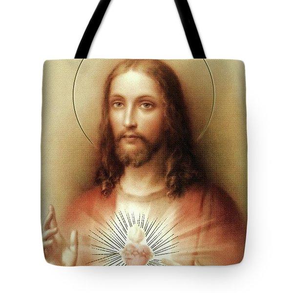 Sacred Heart Of Jesus Tote Bag