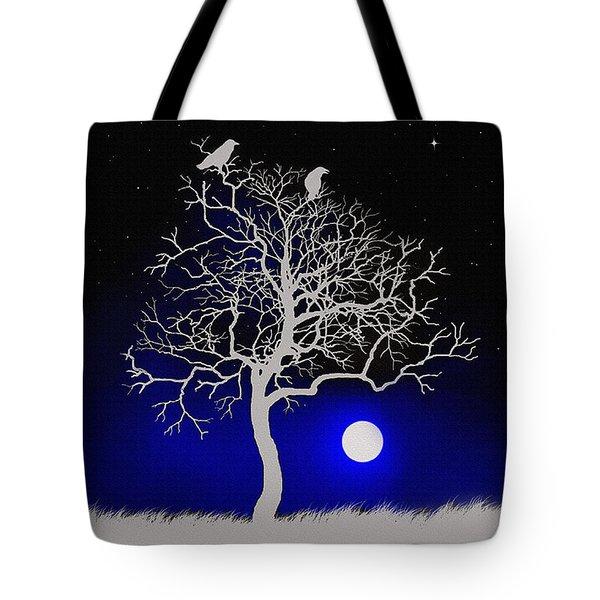Sacred Raven Tree Tote Bag