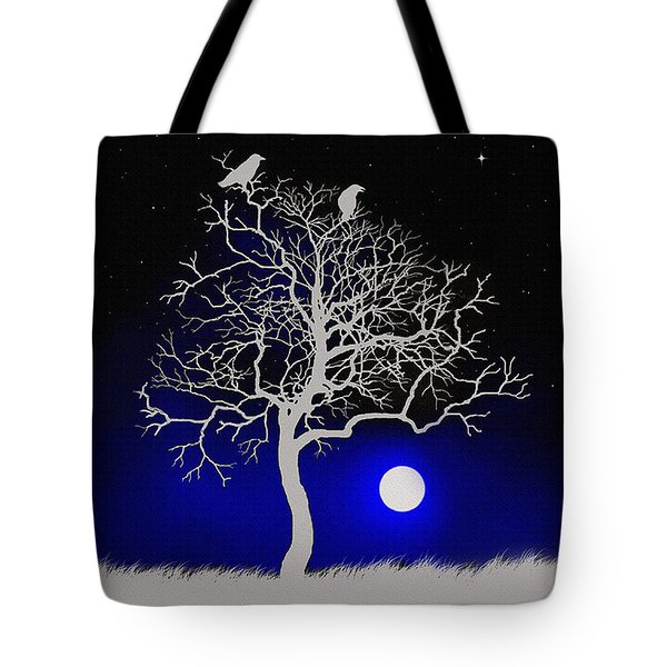 Sacred Raven Tree Tote Bag by Robert Foster
