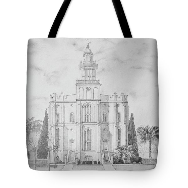 Sacred Steps - St. George Temple Tote Bag