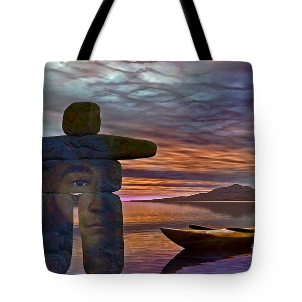 Tote Bag featuring the digital art Sacred Stone  by Shadowlea Is